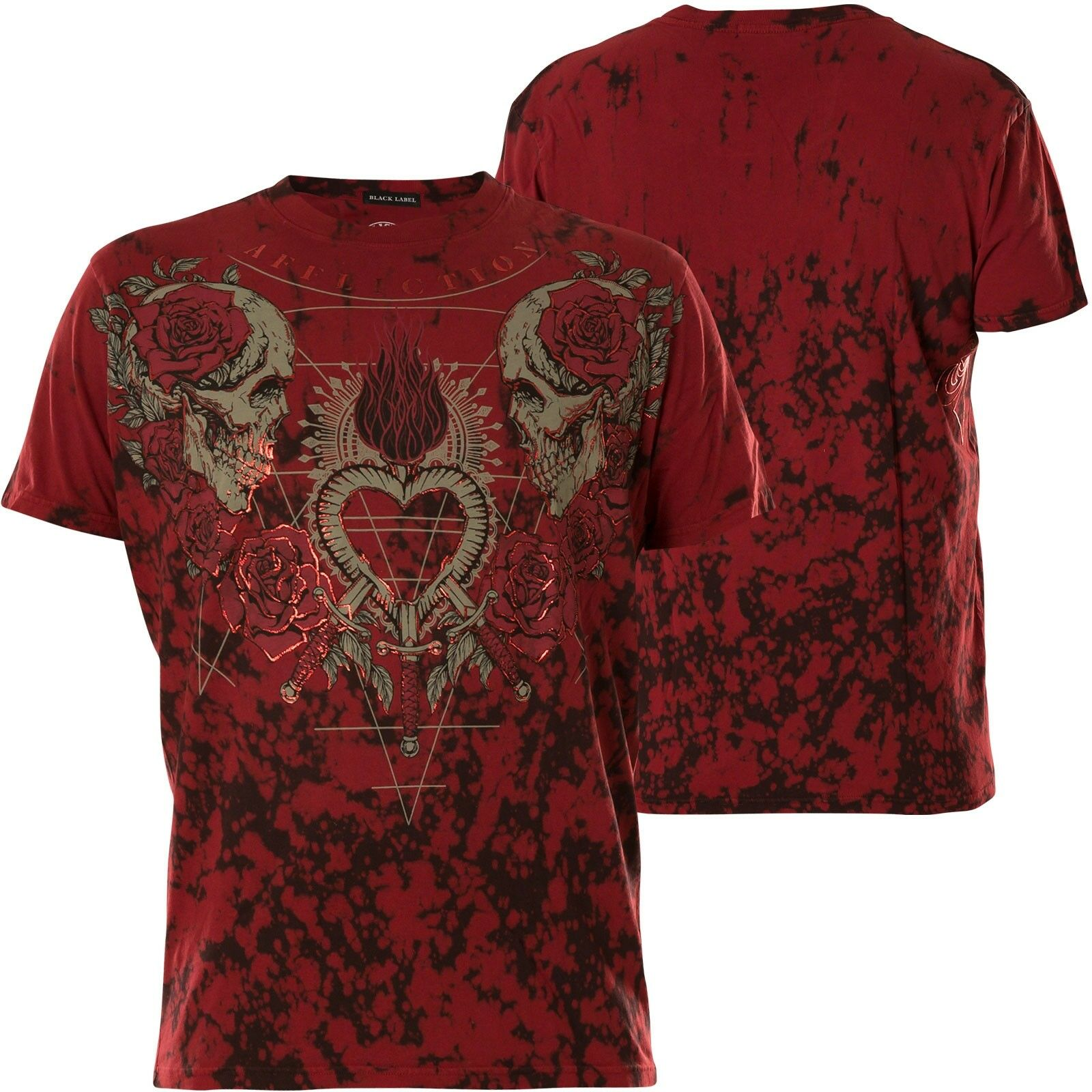 AFFLICTION T-Shirt End Of Heartache Rot T-Shirts