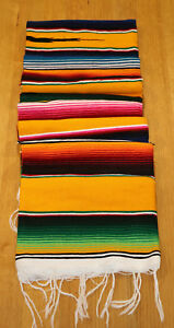 Mexican Sarape Gold,  Blanket, Rug, Picnic, Throw, Tablecloth, Hot Rod, Yoga mat