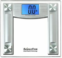 Digital Bathroom Scale 4.3 Lcd Balance Body Weight Diet Fitness Exercise Health