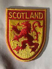 Scotland Scottish Lion Rectangular Rectangular Embroidered Badge Patch