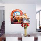 3D Wall Stickers DIY Removable Vinyl Mural Art Kids Room Decals Window Giraffe