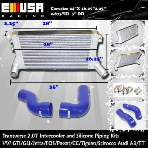 06-09 Volkswagen Jetta GLI Sedan 4-Door 2.0L Transverse Intercooler/& BLUE Piping