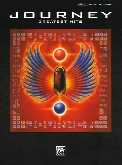 Journey Greatest Hits Learn to Play Pop Rock Guitar Tab Music Book Songs 80s