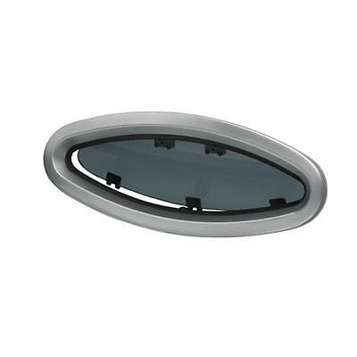 Vetus Porthole PX45 Boat Hatch Oval 441 x 192 CE Classif Alloy Frame Smoke Glass