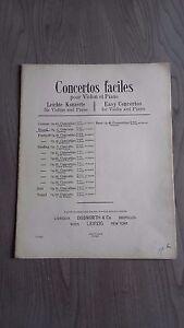 Concertos Facile Violino & Pianoforte Spartiti Bosworth & Co 1900 Be 6 Persiane