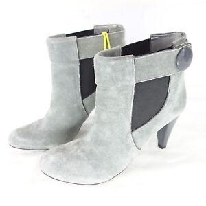 Stiefeletten Schuhe NEU Damen Keil Wedges Plateau Boots 2204 Grau 41