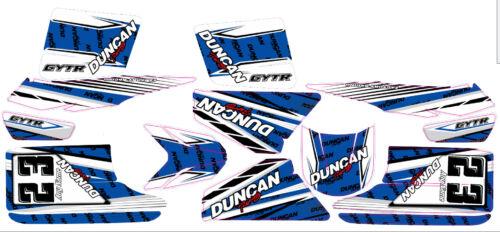 Custom Decal Graphics Sti Fits Yamaha Blaster 200 YFS 88-05 BLUE FREE Name /& No