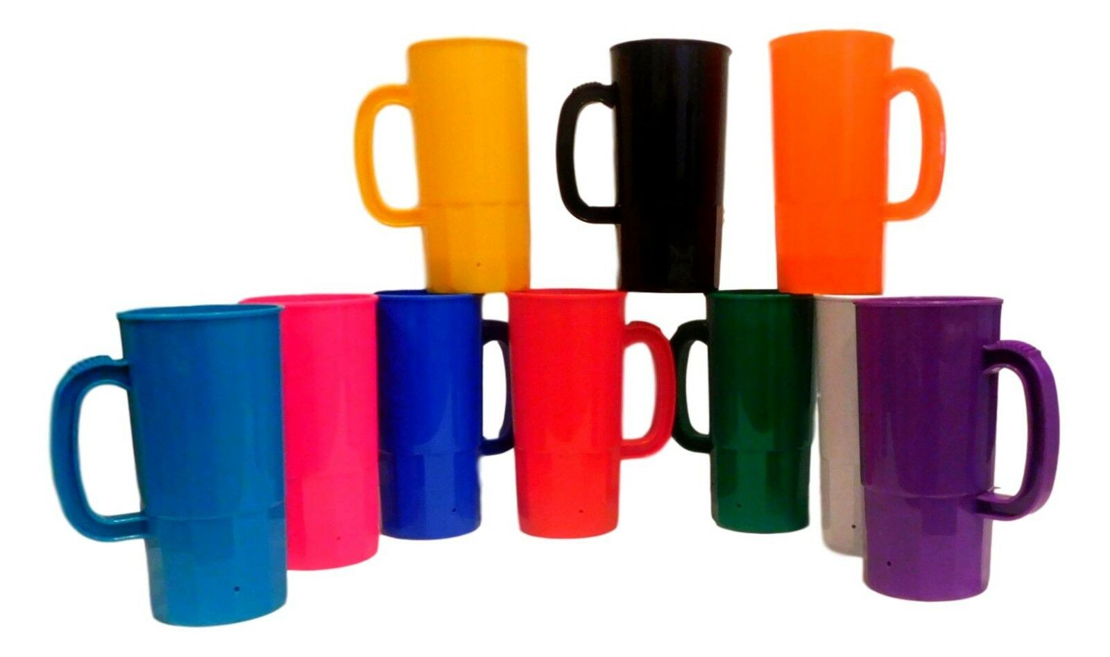 100 Large Mix of colors 22 Oz Beer Mugs Steins Made USA Lead Free Wholesale Lot