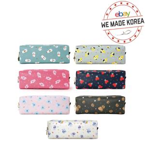 BT21-C-Pocket-Pattern-Pencil-Case-Makeup-Pouch-Official-K-Pop-Authentic-Goods