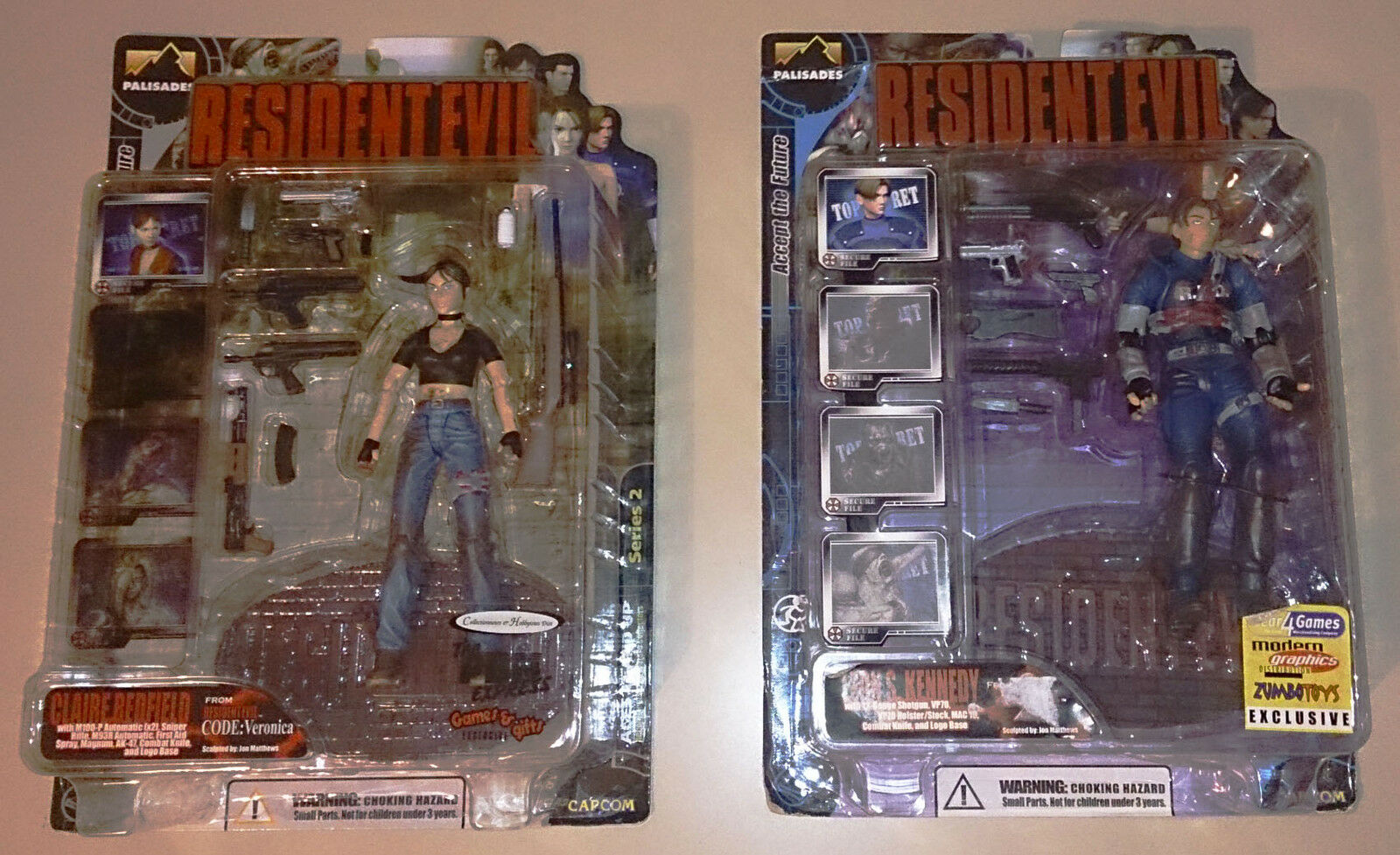 RESIDENT EVIL PALISADES  - LEON BLOODY + CLAIRE BLOODY - LIMITED MOC - NEW
