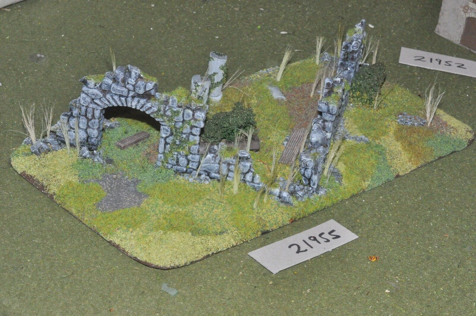 20mm WW2   french - ruined normandy chuch scenics world war 2 - scenics (21955)
