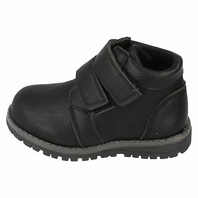 Boys N2041 Black Synthetic Ankle Boots by JCDees £14.99