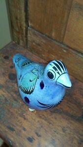 TONALA-FOLK-ART-POTTERY-STANDING-BIRD-MEXICO