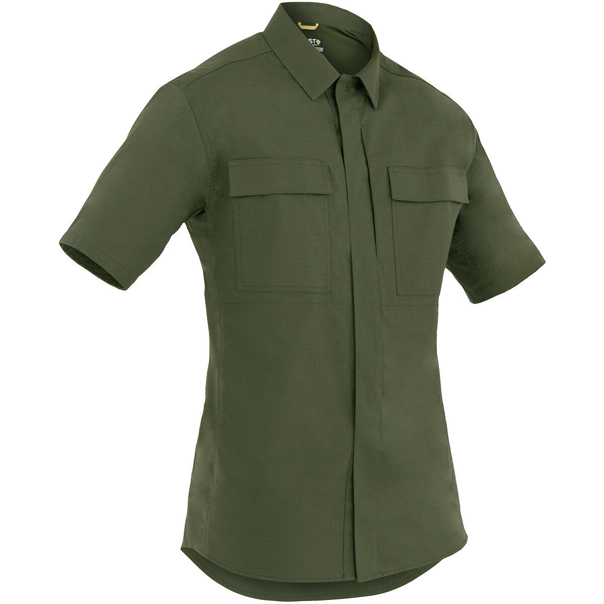 First Tactical Mens Specialist Short Sleeve BDU Shirt Army Ripstop Top OD Green