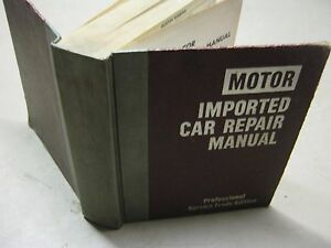 Motor-Imported-Car-Repair-Manual-book-3rd-Edition-2nd-Printing