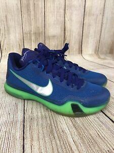 2a7f6eaf2242 Nike Kobe X 10 Emerald City Basketball Shoes Sneakers 705317 402 ...