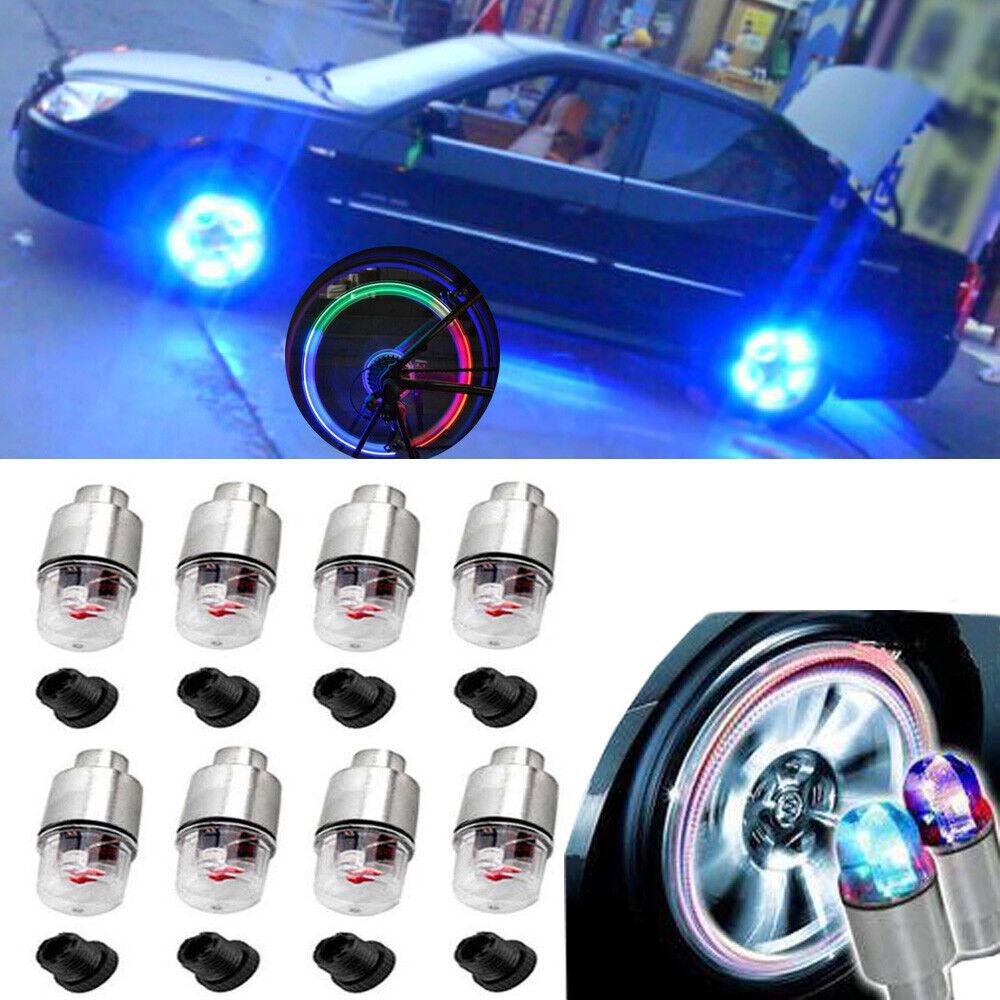 2x Motorcycle Bike Wheel Tire Tyre Valve Cap Neon LED Flash Rim Light Lamp