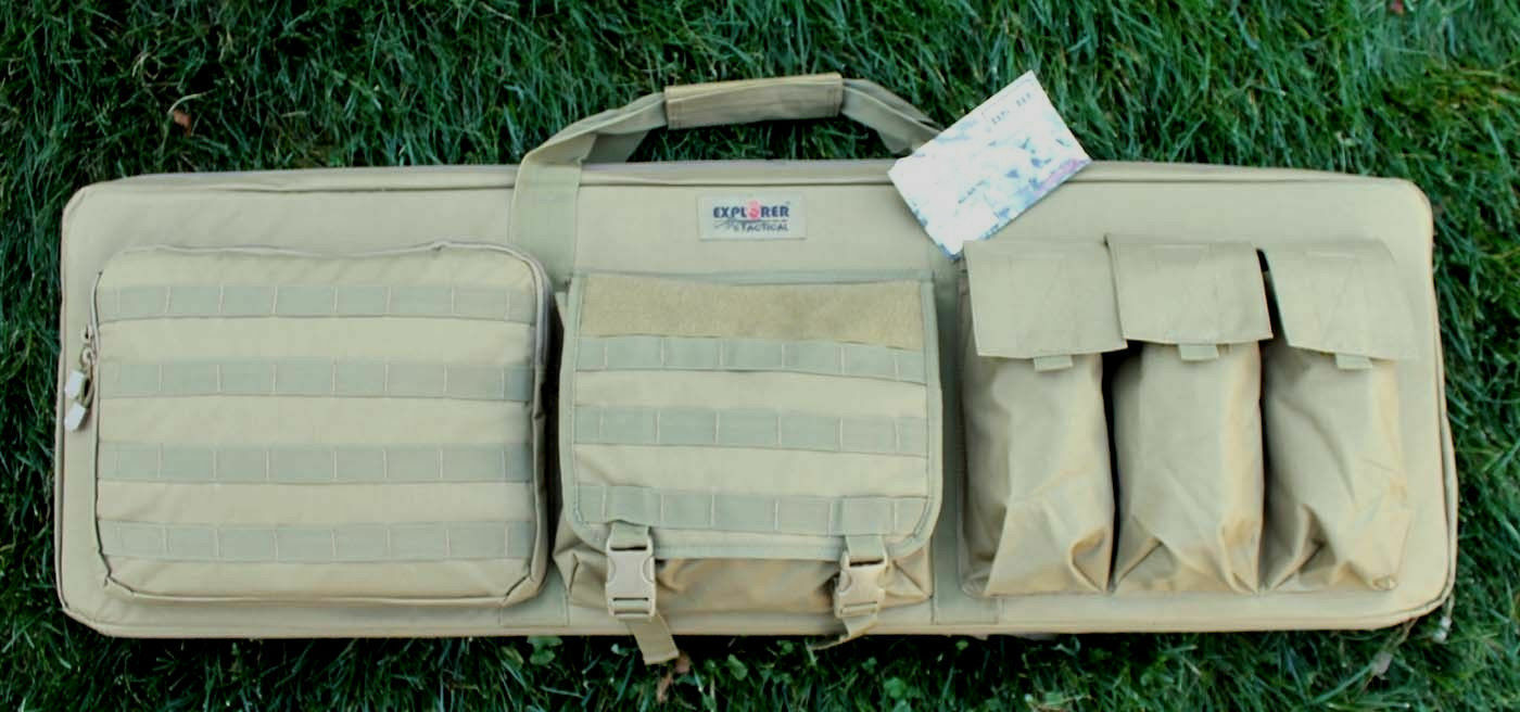 42 -79  Coyote TAN Tactical Sniper 3 Gun RIFLE Padded Carry Case w Shooting Mat