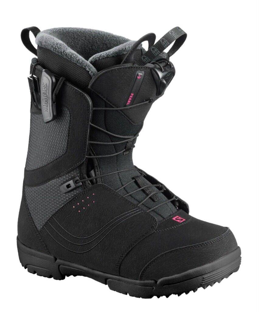 botas Snowboard botas Mujer salomon Perla W Negro Mp 24.5 Season 2020