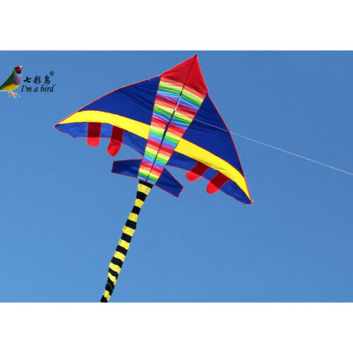 3m HUGE Glider Airplane Power Kite color long tail fighter kite Outdoor fun Toys
