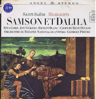 Saint-Saens SAMSON ET DALILA Gorr Vickers Blanc Pretre -  LP ANGEL sealed