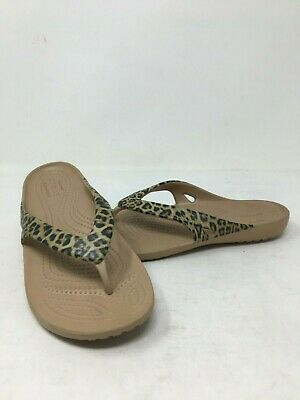 Choose SZ//Color Crocs Women/'s Kadee Leopard Print Flip-Flop
