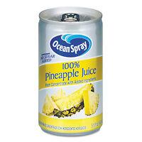 Ocean Spray 100% Juice Pineapple 5.5 Oz Can 20454 on sale