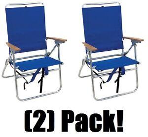 Prime Details About 2 Ea Rio Brands Sc642Bp Ts 5 Position Folding Aluminum Hi Boy Beach Chairs Machost Co Dining Chair Design Ideas Machostcouk