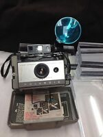 Polaroid Land Camera Automatic 103 with 268 Model Flash Attachment  U4