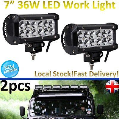 2x Car LED Work Light Bar Mount Bracket Holder Stainless Steel For SUV UK stock