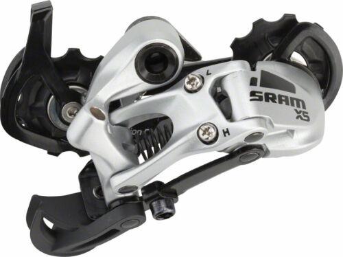 SRAM X5 9 Speed Medium Cage Rear Derailleur Silver