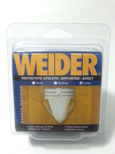 Weider Protective Athletic Cup Supporter /_ Adult Large 12 Pieces ASNLY