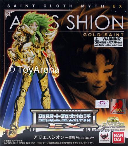 Saint Seiya Myth Cloth EX Aries Shion Holy War Version Action Figure Bandai