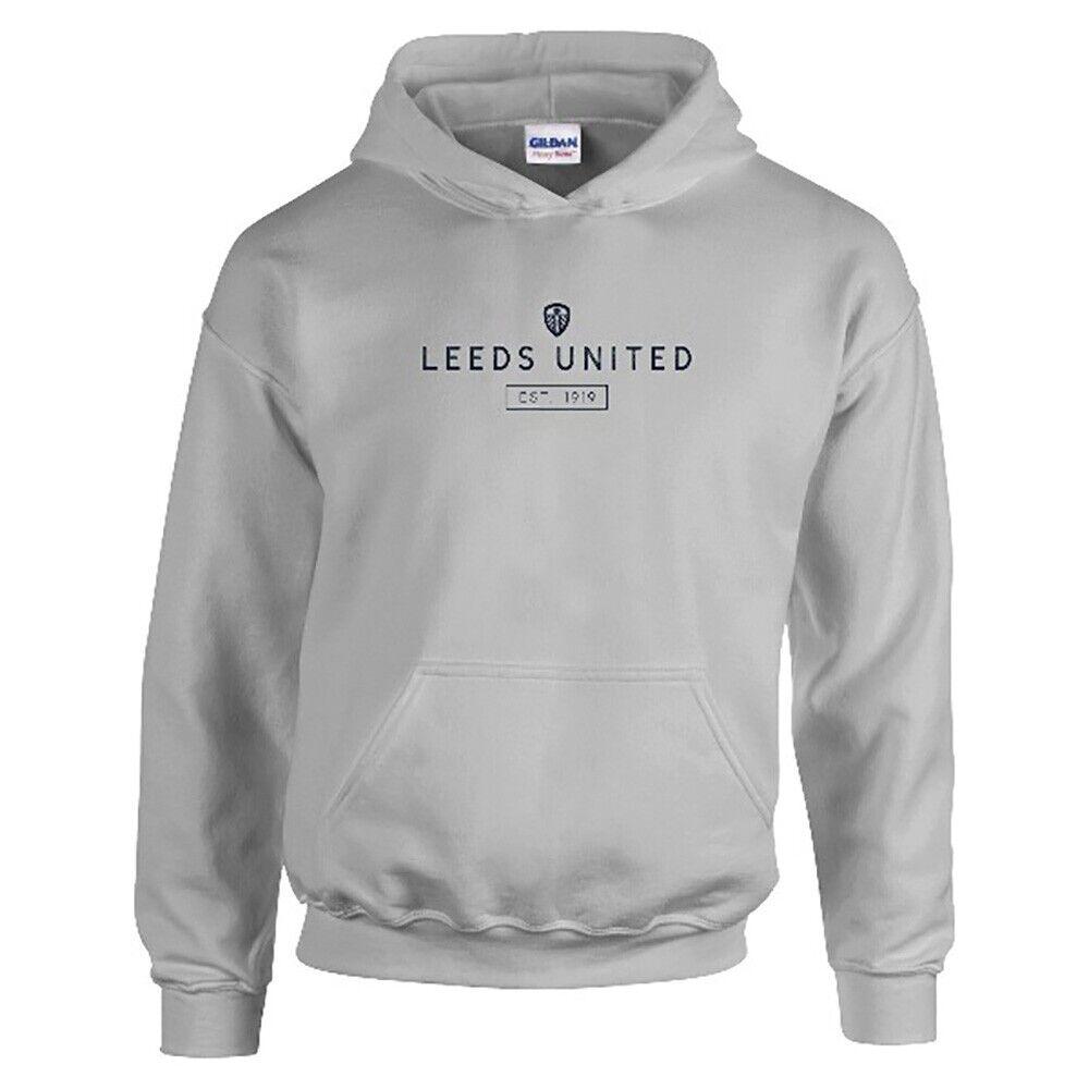 Leeds United F.C  Felpa con Cappuccio da Uomo Personalizzato minimo