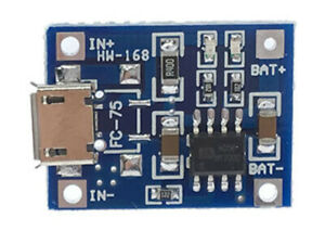 2-Pack-TP4056-Micro-USB-5V-1A-Lithium-Battery-Charger-Module