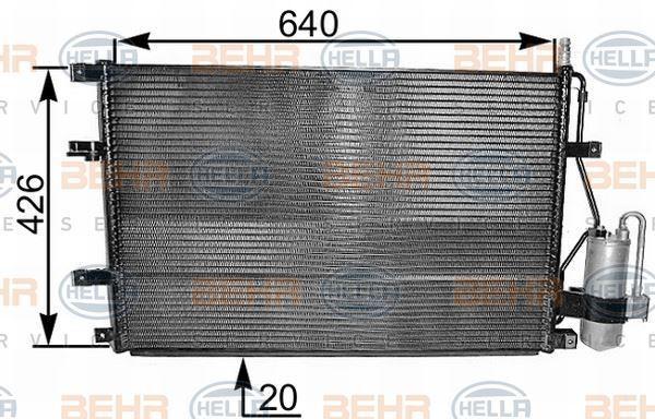 8FC 351 037-641 Hella Condensador Aire Acondicionado