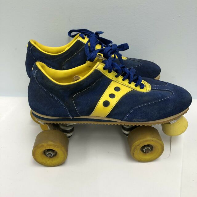 "Sure-Grip Original Vintage /""JOGGER/"" Roller Skates in RED// YELLOW Mens Size 13"