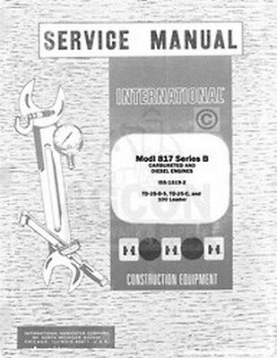 International 295-B PaySrap TD-20 B TD-25 B 250 RD Injection Pump Service Manual