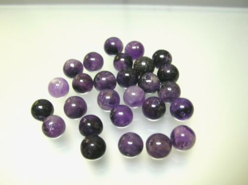 10-25 pcs natural Amethyst loose round drilled beads 8-8.5mm light /& dark purple