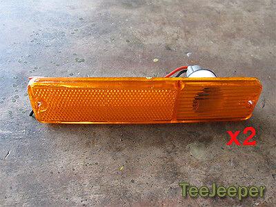 2 x new Amber Turn Signal Light Marker Lights Jeep CJ5 CJ6 CJ7 CJ8