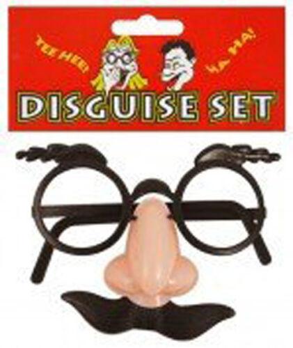 DISGUISE SET GLASSES EYEBROWS FALSE NOSE MOUSTACHE PARTY BAG TOY JOKE FUN