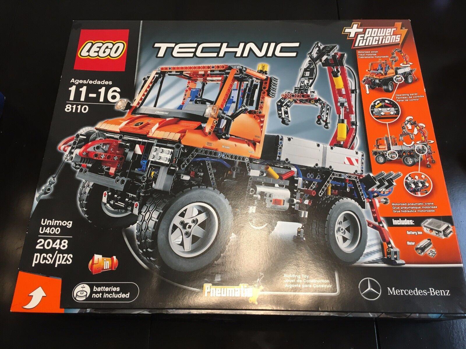 LEGO 8110 TECHNIC MERCEDES-BENZ UNIMOG U 400 & MINT SEALED NEVER OPENED RETIrosso