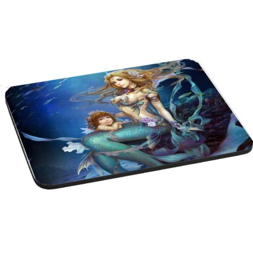 5mm Thick Rectangle Mouse Mat//Pad Mother /& Daughter Mermaids Theme