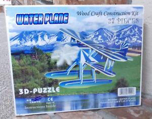 Wood-3D-Float-Plane-Puzzle-27-pieces-8-x-8-5-x-4-inches-pieces-in-color