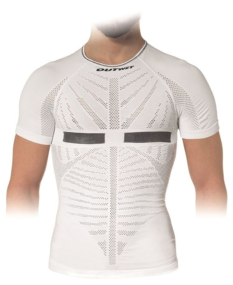 Closeout EP2 Cycling Short Sleeve BASE LAYER in White.  Made in  by Outwet  first-class quality