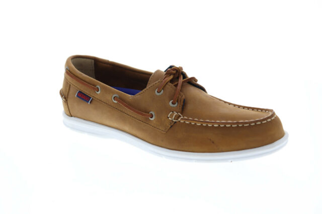 Sebago Litesides FGL 7000HJ0 Mens Brown Leather Deck Casual Lace Up Boat Shoes