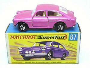 Matchbox-Lesney-No-67b-Volkswagen-1600TL-en-Caja-G2-039-Tipo-034-ancho-pasos-de-rueda
