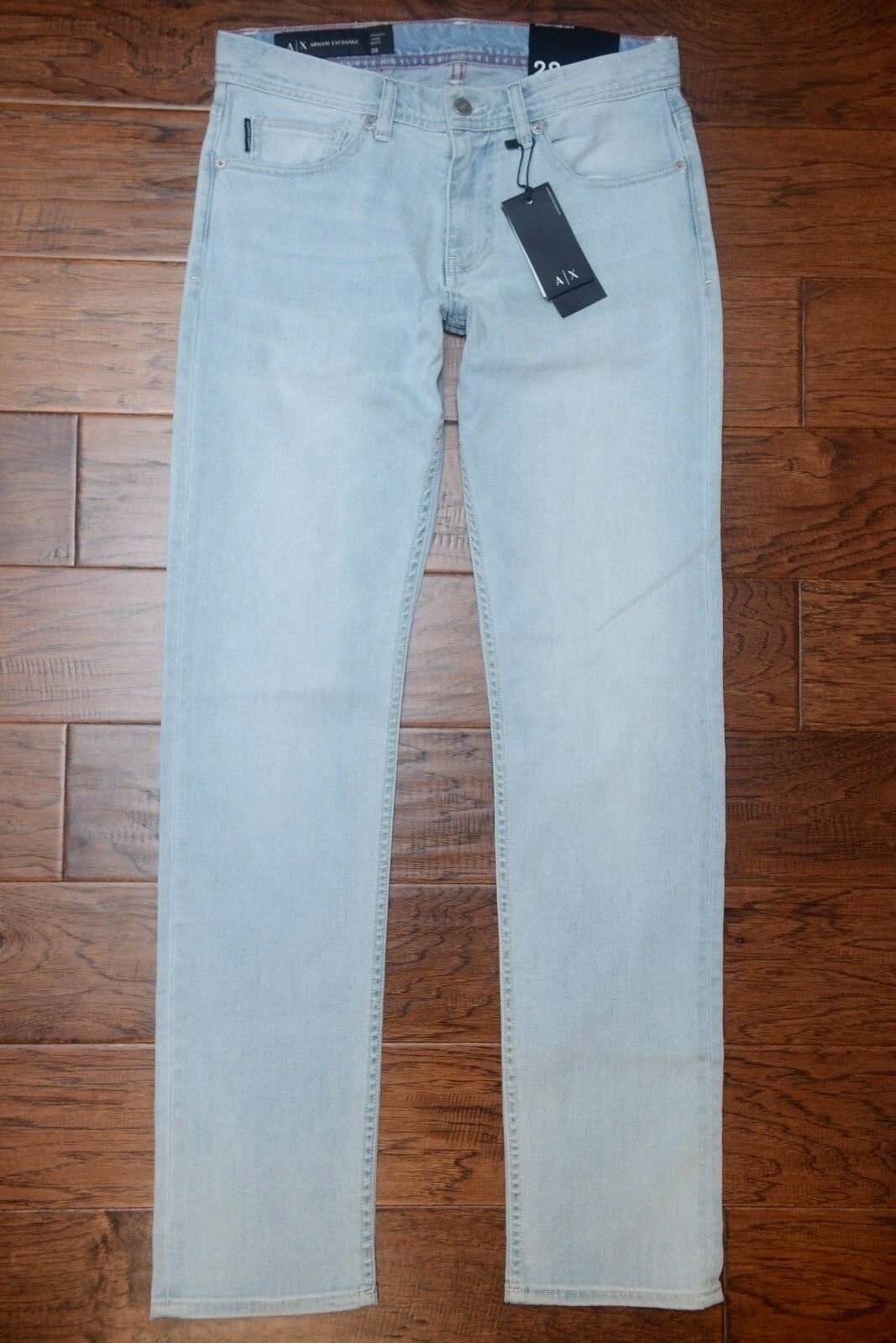 Armani Exchange A X Men's Jambe Droite Straight Leg Stretch Cotton Jeans 28