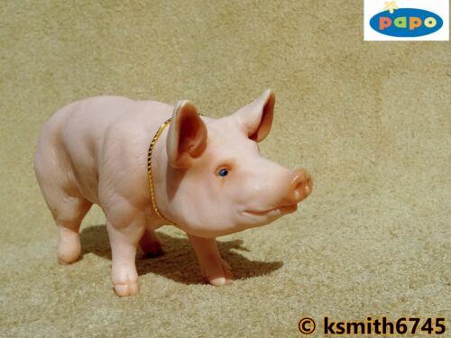 Papo porc mâle solide Jouet en plastique Animal Farm Animal Sanglier Porc Cochon Rose Pour nouveau