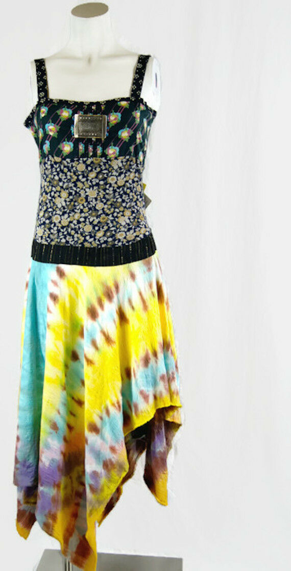 Tulip New Beautiful Women's Dress Boho Hippie Ethnic Asymmetrical Hem Orig